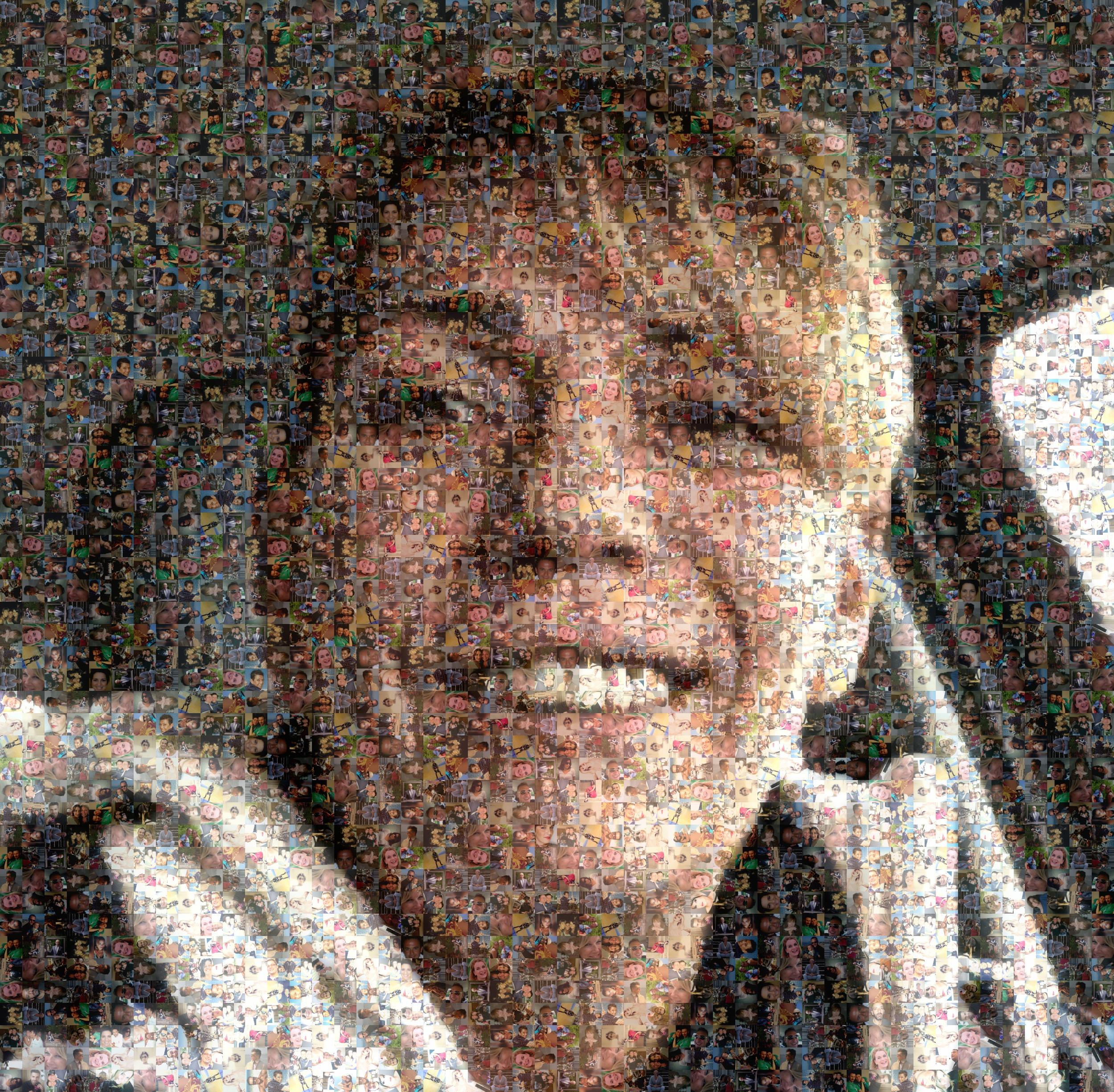 Ciao sono Loredana, questa immagine è creata con le foto di ognuno di voi, ogni persona con la quale ho lavorato. Grazie